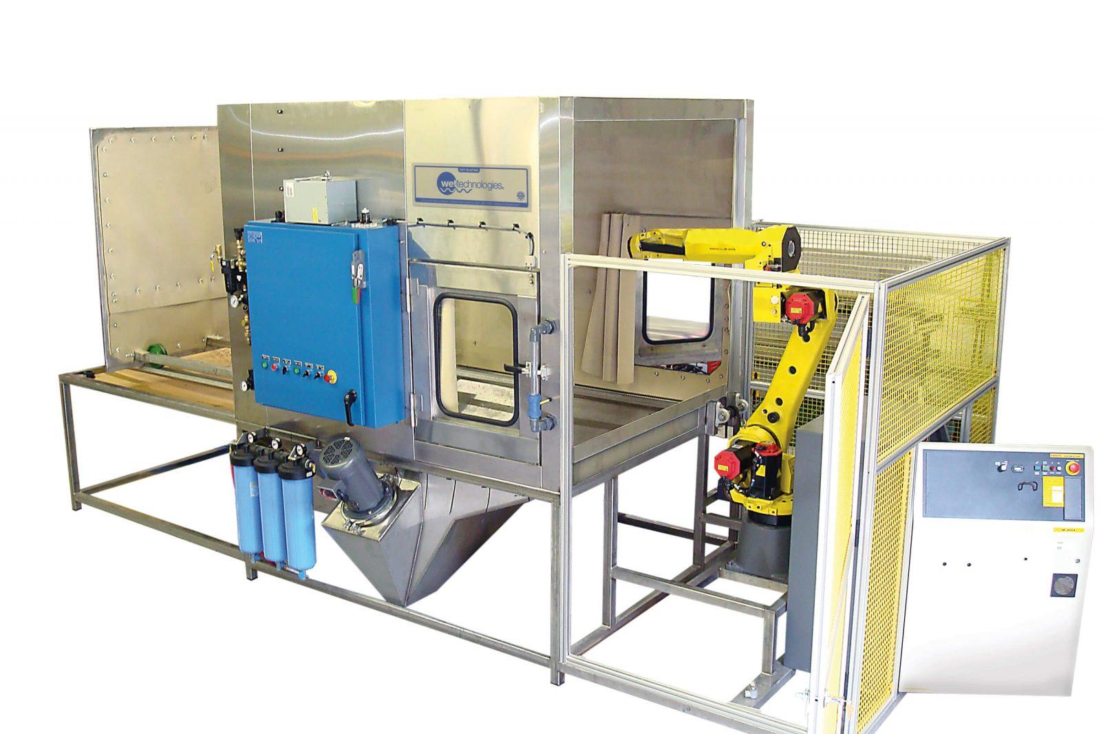 robotic wet blasting equipment