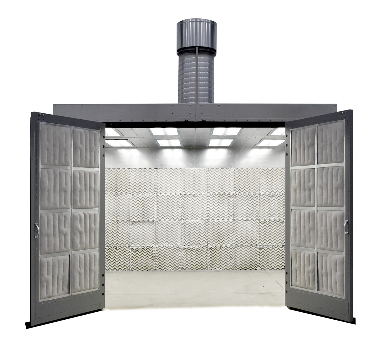 enclosed paint spray booth