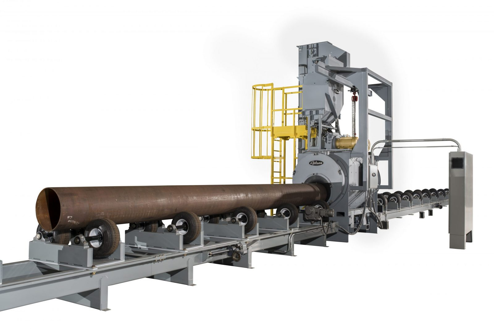 pipe blast system