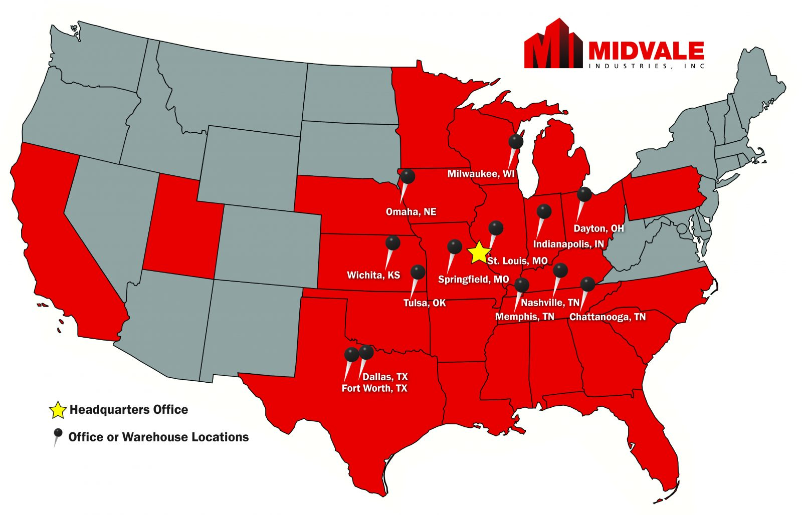 midvale industries location map